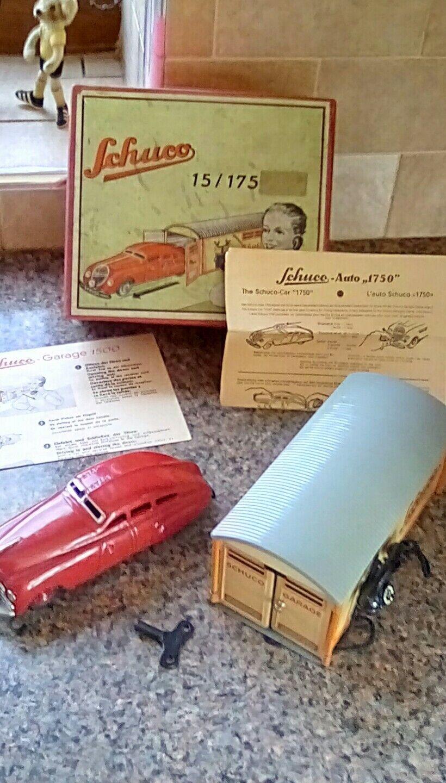 Raro 1940s Schuco 1750 Garaje Caja Original