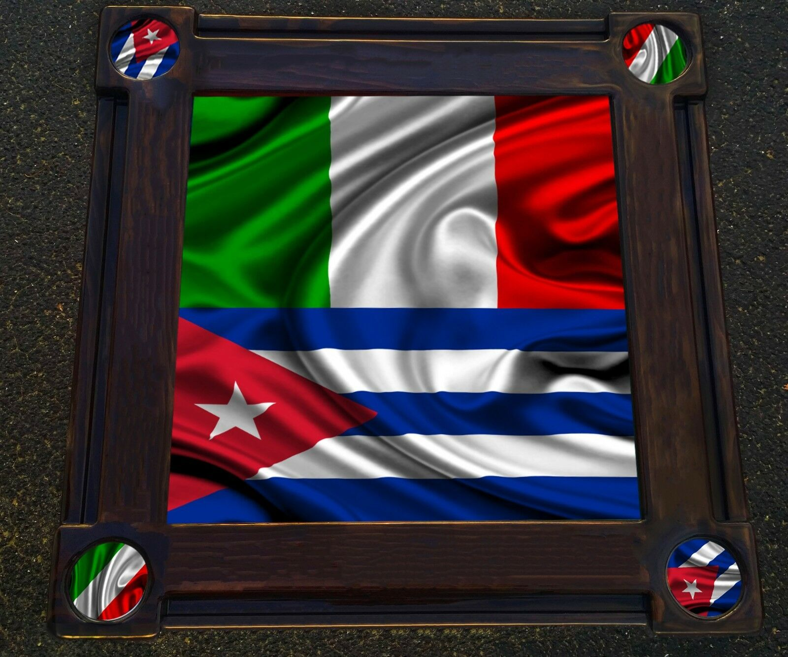 Cuban and Italian Themed Domino Table by Domino Tables by Art