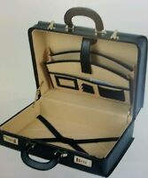 Attache Case Twin Handle Briefcase Fuax Leather Office Documents