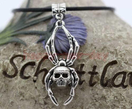 New Antique silver Genuine leather Choker Necklace Pagan Wicca Gothic best gift