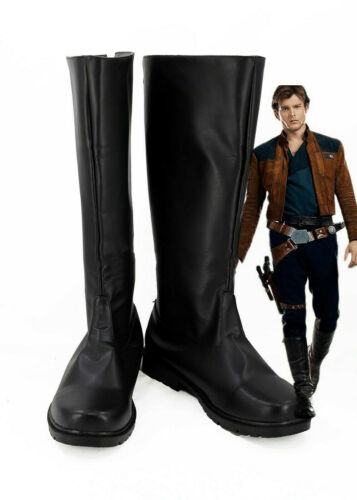 Solo A Star Wars Story Han Solo Cosplay Boots Shoes Black Custom Made {s0}