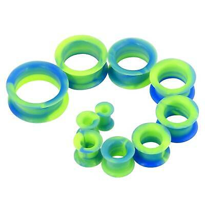 1 Pair Clear Soft Silicone Flexible Ear Tunnels Plugs Gauges Earlets Eyelets