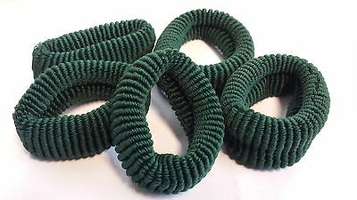 Elastic Hair Bands Green Color 7cm Pack Of 5 FöRderung Der Produktion Von KöRperflüSsigkeit Und Speichel