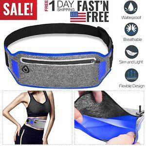 Slim Sport Waist Bum Belt Bag Running Jogging Hiking Zip Fanny Pack Pouch GYM