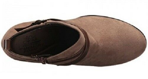 Life Stride Jamie ankle boot bootie tan brown 10 memory foam footbed sz 10 brown Med NEW 22790a