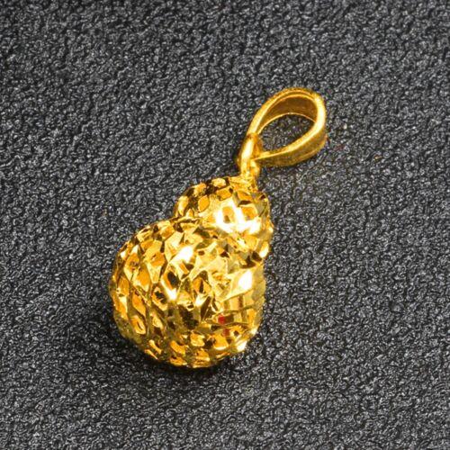 Pure 999 24k Yellow Gold Pendant //Lucky Cute Hollow Gourd Pendant 1.7g