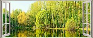 Huge-3D-Panoramic-Enchanting-Exotic-Lake-Window-View-Wall-Stickers-Mural-273