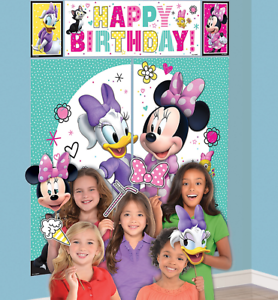 Disney MINNIE MOUSE /& Daisy Duck Scene Setter birthday party wall photo backdrop