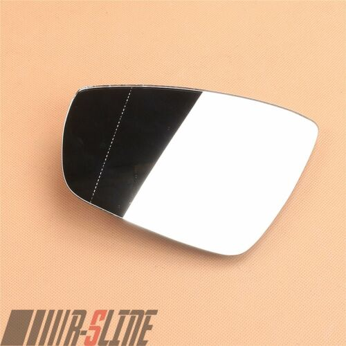 Left Side Wing Mirror Glass W//Heated Rearview Fit For VW Polo 6R 10-17 Hatchback