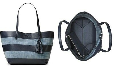 Nwt Michael Michael Kors Striped Large East West Tote With Duster Great Looking 190049525401 Ebay