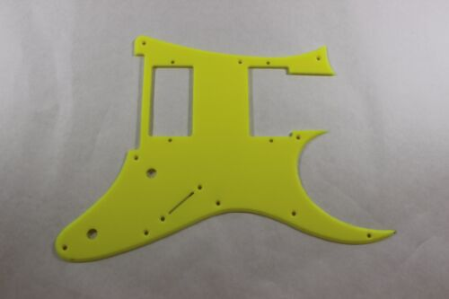 RG350mdx  RG HXH tm Fluorescent Neon Yellow Guitar pickguard fits Ibanez