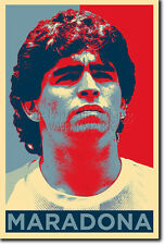 DIEGO MARADONA ART PHOTO PRINT (OBAMA HOPE) POSTER GIFT