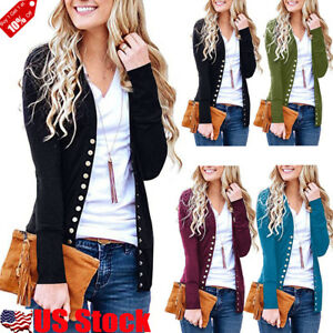 Women-Casual-Cardigan-Thin-Slim-Buttons-Tops-Knitting-Sweater-Long-Sleeve-Blouse