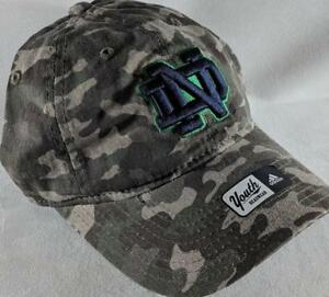 LZ Adidas Youth One Size OSFA Notre Dame Fighting Irish Baseball Hat ... 75fb4fee6f2f