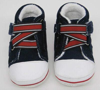 Baby first shoes Stiefel Turnschuhe NEU marineblau weiß rot Jungen Mädchen