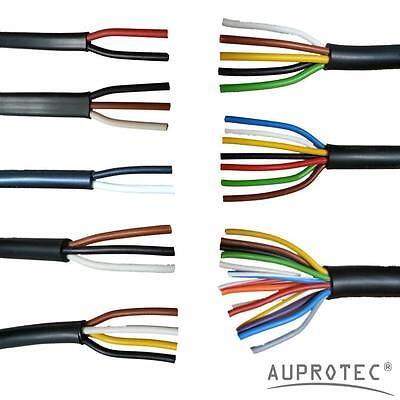 AUPROTEC 20m Rundkabel 2 adriges Elektrokabel Anh/ängerkabel 2 x 0,5 mm/²