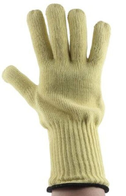 1 Pair White//Yellow - Size 10 Ansell 43-217-10 Leather Welding Gloves 813736