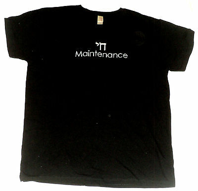 NEW~Chai Maintenance Hebrew Jewish Youth T-Shirt~S~Black~Cotton Embroider GILDAN