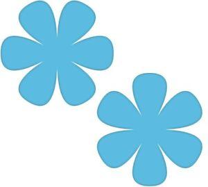Das Bild Wird Geladen 2 Aufkleber 8cm Blau Blume Bluemchen Wand Tuer