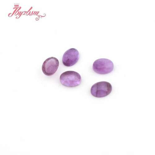 6x8mm Oval CAB Cabochon Flatback Dome Undrilled Stone For Jewelry Making 5 Pcs