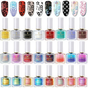 6ml-BORN-PRETTY-Stempellack-Holographisch-Thermal-Plate-Nagel-Stempel-Nagellack