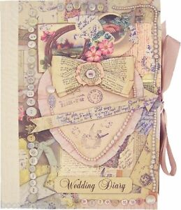 Image Is Loading Vintage Wedding Planner Book Diary Journal Organiser Engagement