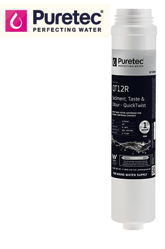 Puretec QT12R Replacement Water Filter Cartridge   1 micron   suits QT12