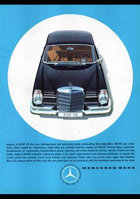 "1961 MERCEDES BENZ 180D W120 PONTON AD A4 POSTER PRINT LAMINATED 11.7/""x8.3/"""