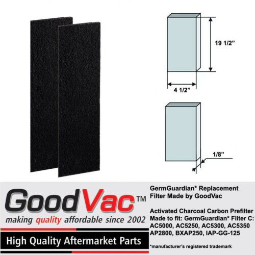 GermGuardian AC5000 Filter C Carbon Filter Replacement Pre-Filter by GoodVac