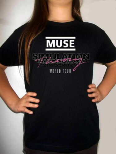 muse simulation theory logo BLACK t-shirt MUSE 2019 kids clothing boy girl shirt