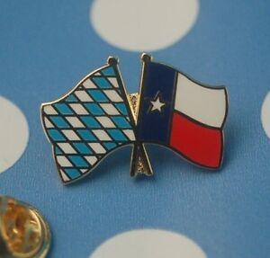 Freundschaftspin-Bayern-Texas-Pin-Button-Badge-Anstecker-Anstecknadel-Flaggenpin