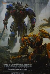 TRANSFORMERS-A3-Poster-ca-42-x-28-cm-Film-The-Last-Knight-Clippings-NEU