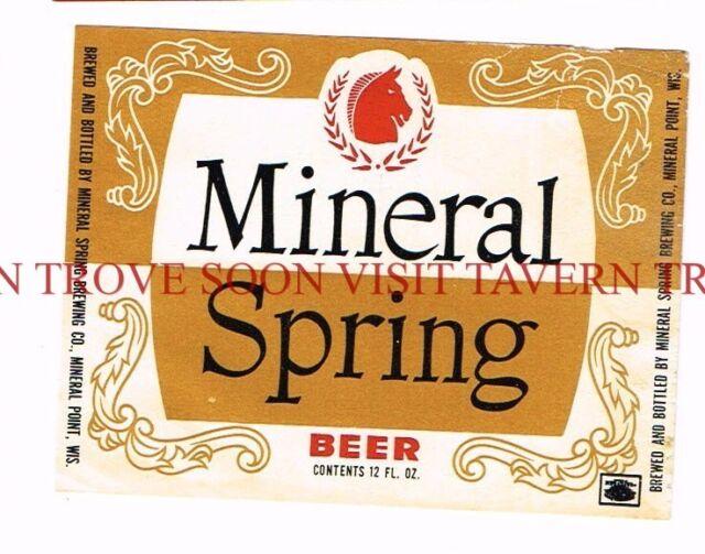 Unused 1950s Knapstein Alfter Brau 12oz Beer Label Tavern Trove Wisconsin