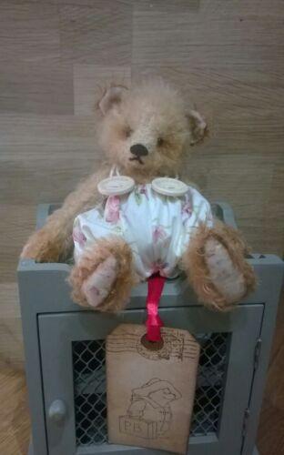 HAND MADE MOHAIR BEAR MADE IN ENGLAND