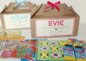 Image Is Loading Personalised Filled Childrens Wedding Activity Gift Box Pack