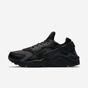 Nike Air Huarache Run All Triple Black and Dark Grey 318429 041 Size 8-13