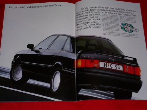 AUDI 90 b3 2.0 2.3 2.3 20v quattro exclusif sport série prospectus de 1991