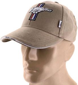 Ford Mustang Gt Tan Brown Baseball Cap Trucker Hat