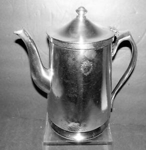 PLAZA Hotel New York City LARGE Silver Plate Coffee Pot