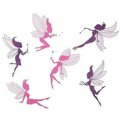 DIY Pink Purple fairies Removable Wall Sticker Art Mural Wall Decal Home Decor