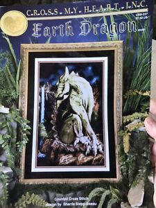 Earth-Dragon-Cross-Stitch-Pattern-Cross-My-Heart-Retired-OOP-Fantasy-198-X-303