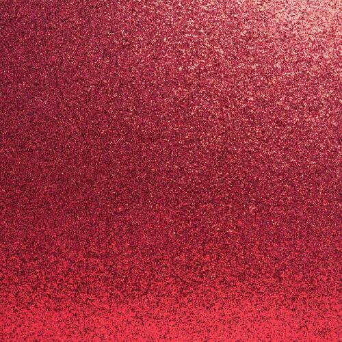 "5pk 12/"" Red Glitter Carte Noël Craft Mariage Scrapbooking Brillant Paillettes"