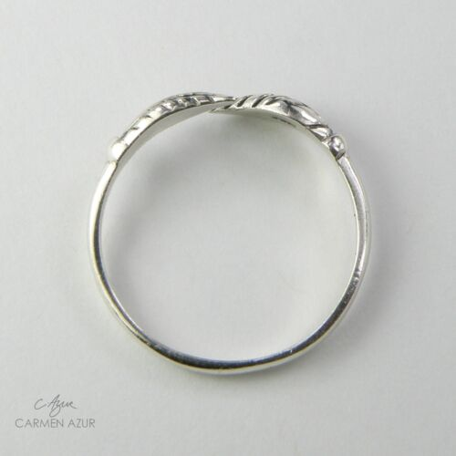 Sólido de plata esterlina 925 Anillo del dedo del pie//midi HOJA oxidado Acabado Nuevo Inc Bolsa De Regalo