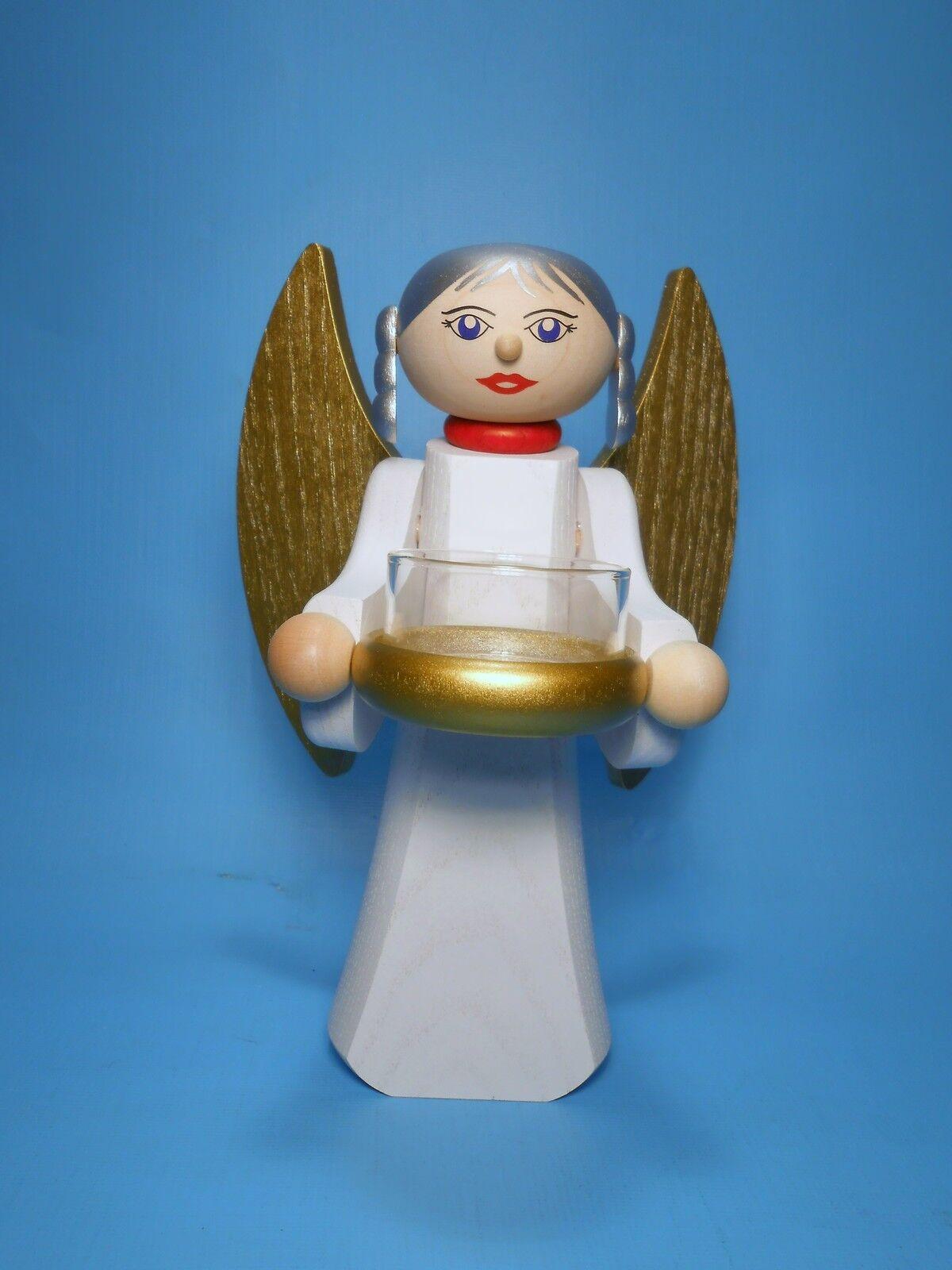 Moderner Lichterengel Engel Engel Engel Gold 18 cm mit Teelichthalter Tradition Erzgebirge | Sonderpreis  c5b88a