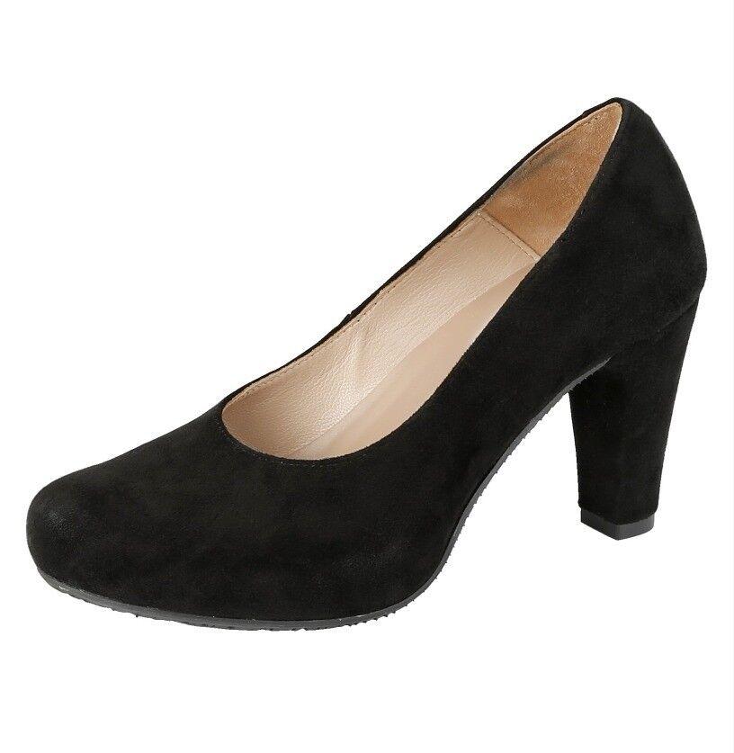 Zapatos señora zapatos pumps negro calidad cuero Liva loop (7,5) W G