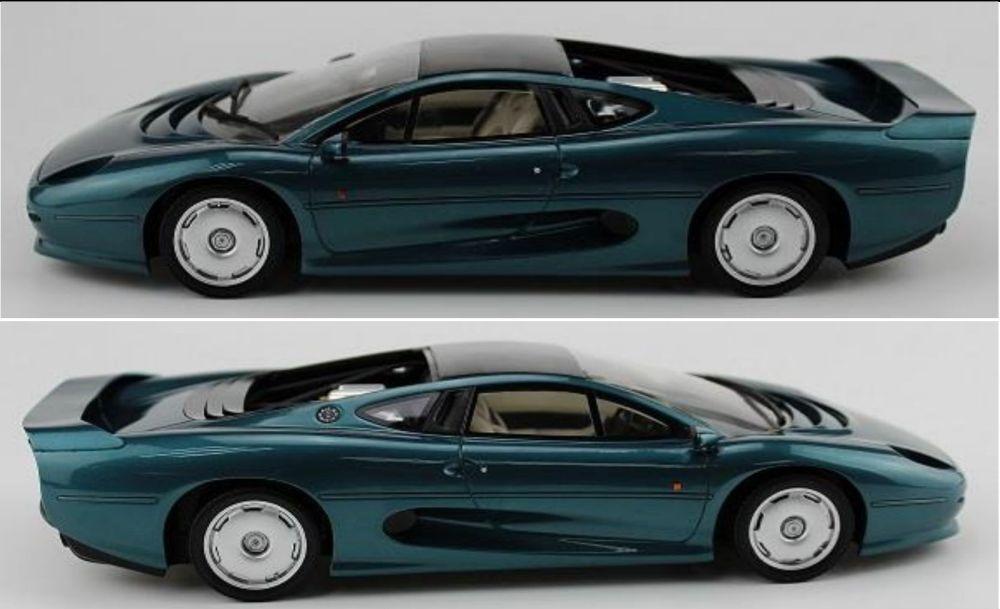 TOP MARQUES 039A JAGUAR XJ220 resin model car metallic green 1992 1 18th scale