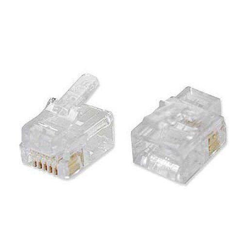 50-Pieces Platinum Tools 100026C EZ-RJ12//11 Connectors Clamshell