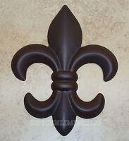 Fleur De Lis Wall Decor Brown Metal Rustic Creole Saints Home Office Fdl