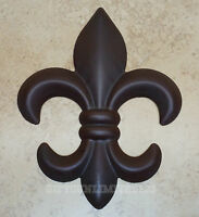 Fleur De Lis Wall Decor Brown Metal Rustic Creole Saints Home Office Fdl