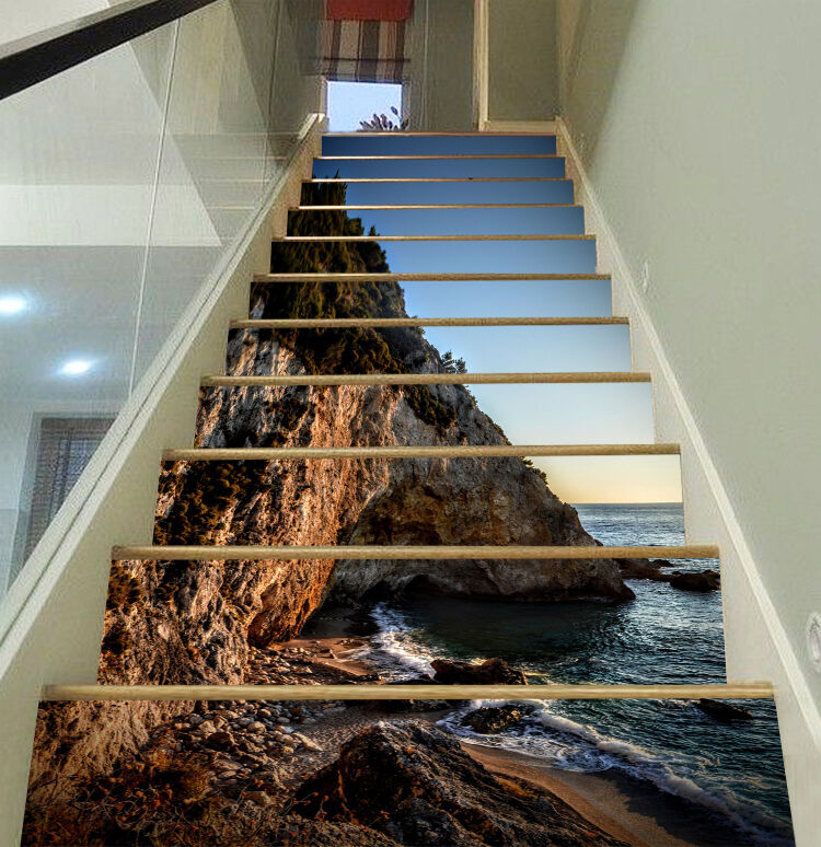 3D Coast Scenery 34 Stair Risers Decoration Photo Mural Vinyl Decal Wallpaper AU